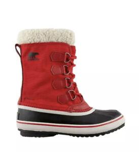 Women's Sorel Carnival Winter Boot Size 6 Red Waterproof Rain Snow