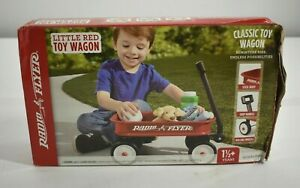 Radio Flyer Little Red Outdoor Toy Wagon Kids Mini Small Version Wheel Home