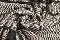 Brand New 100% Wool Cashmere Black & White Herringbone Warm Winter Men's Scarf