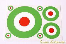 "VESPA - Set 7 x Adesivo "" ITALIA target "" - V50 PK PX GL RALLY SPRINT MODELLO"