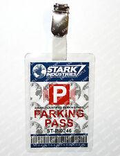 Tony Stark Industries Parking ID Badge Iron Man Cosplay Costume Prop Halloween
