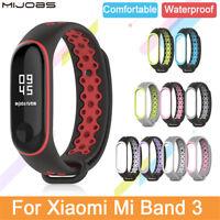 Für Xiaomi Mi Band 3 Sport Silikon Armband Handschlaufe Ersatz Smart Band
