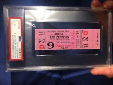 1971 Led Zeppelin Full Concert Ticket San Antonio Texas PSA 4