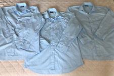 Boys High School / College Light Blue Winter Shirt Long Sleeve x3 Uniform Sz 14