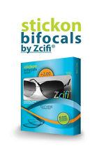 Stick on Bifocals by Zcifi Lenses +2.00 - FREE Case - Instant Bifocals