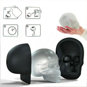 3D Ice Cube Mold Skull Shape Maker Bar Party Silicone Trays Large Mould Gift