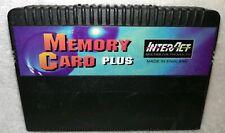 Interact Game Memory Card Plus Sega SaturnWORKS Rare Cartridge