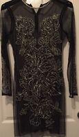 Black Kim Bodycon Dress By Miss Selfridge Premium Size 12 Rrp £110