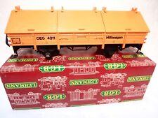 LGB #4011 OEG Hilfswagen Covered Gondola Car w 6 Hatches- Orange - G Scale -&box