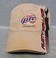 Miller Lite Racing Rusty Wallace 2 Nascar Tan Hat Baseball Cap Adjustable