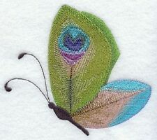 "9  x 12"" Embroidered Quilt Block - Pre-Order - Peacock Butterfly"