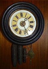Schwarzwälder Uhr mit 3 Gewichten, Schalg auf Feder und Glocke   (259/6013)