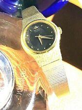 Vint. (1992) SEIKO Goldtone/Black Face/Ladies Watch. V401-0250