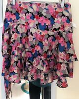 AS NEW BETTINA LIANO PRETTY SILK FLORAL SKIRT - MADE IN AUSTRALIA SIZE 8 - SALSA