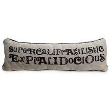 Disney Throw Pillow Mary poppins Supercalifragilisticexpialidocious New