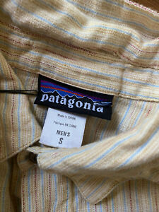 Patagonia Men's 100% Hemp Button Up Size Small
