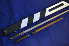 NEW HANDSPLICED 3/4 ASH POOL SNOOKER CUE & LUXURY CASE SET