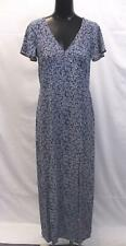 MICHAEL Michael Kors Women's Painterly Reef Slit Maxi Dress AB3 True Navy Small