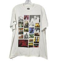 Beyonce OTR II White Grid Tshirt Photo Collage Tee Short Sleeve Size X-Large XL