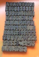 Tipo de madera de tipografía Completo Fuente Gótico