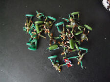 """Lot of HO Scale Green Soldier Army Figures 7/8"""" Tall"""