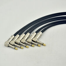 New 6-PACK right angle 1/4 mono guitar effect pedal board cable patch cord 30CMB