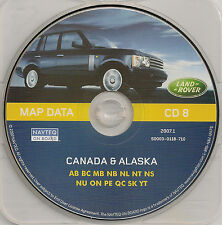 01 02 03 04 LAND ROVER RANGE NAVIGATION MAP DISC NAV CD 8 CANADA ALASKA ON QC AB