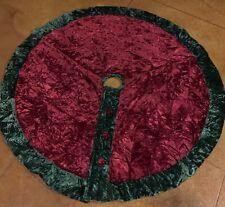 """🎄 Beautiful Velvet Button Tree Skirt Christmas44"""""""