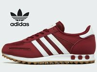 ⚫⚫ Adidas Originals LA Trainer OG ® ( Men Size UK 7.5 EUR 41.5 ) Burgundy Red