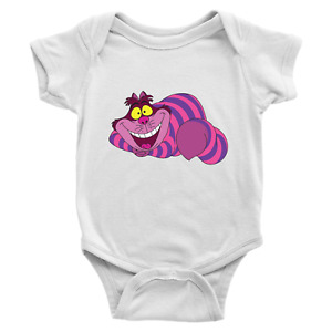 Infant Baby Bodysuit Clothe shower Newborn Graphics Gift Cheshire Cat Smile Grin