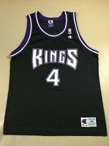 Vintage Sacramento Kings Chris Webber #4 Basketball NBA Champion Jersey Size44