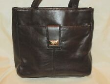 Brown Leather Hush Puppies Hand Bag Purse Shoulder Side Zip ID Wallet Compartmnt