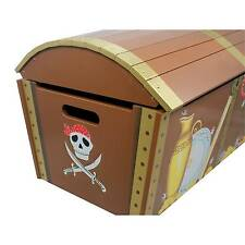 Fantasy Fields by Teamson Pirate Island Wooden Storage Trunk Large Treasure