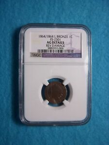 1864/1864 L Indian Head Penny Doubled DDO RPD +Rotated Reverse