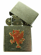 RWF ROYAL WELCH FUSILIERS RAMPANT DRAGON WINDPROOF CHROME PLATED LIGHTER