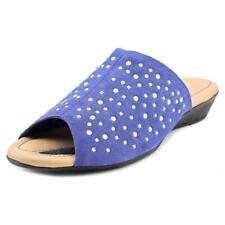 Calzado de mujer de tacón medio (2,5-7,5 cm) de color principal azul de ante