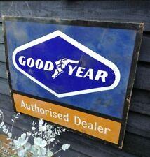 Goodyear enamel sign Goodyear authorised dealer enamel sign 1960's dealer sign