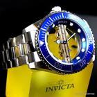 Invicta-Pro-Diver-Ghost-Bridge-Mechanical-Skeleton-Steel-Blue-47mm-Watch-New