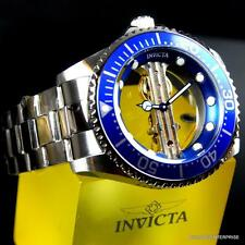 Invicta Pro Diver Ghost Bridge Mechanical Skeleton Steel Blue 47mm Watch New