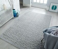 Piatto Argento Silver Indoor Outdoor Geometric Flatweave Rug in various sizes