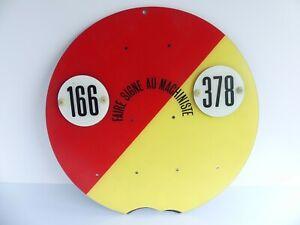 CHEMIN DE FER REEL PLAQUE PLASTIQUE FAIRE SIGNE AU MACHINISTE 166 / 378