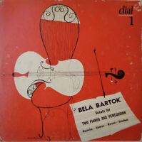 DIAL 1 RED VINYL BARTOK SONATA FOR 2 PIANOS & PERCUSSION *MASSELOS 1949* EX+/EX+