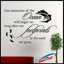Wall Decals  Quotes And Phrases Ocean Our Memories Of The Ocean T4