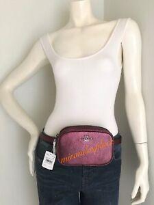 NWT Coach 39940 Metallic Berry Pebble Leather Fanny Pack Belt Bag