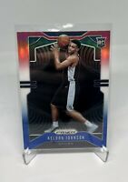 2019-20 Panini Prizm Keldon Johnson Red White Blue Prizm Rookie RC