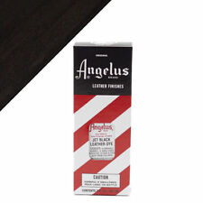 Angelus Jet Black Leather Dye 3 oz. with Applicator for Shoes Boots Bags New