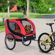 PawHut Remorque à vélo pour transport chien pliable