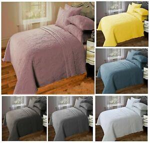 Luxury Designer SORRENTO Quilted Bedspread+Pillow Shams Combi  240x260cm Bed Set
