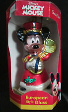 Vintage Santa's Best Mickey Mouse European Hand Crafted Blown Glass Ornament Box