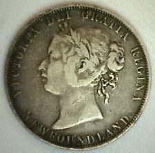 1898 Newfoundland Silver 50 Cent Coin Fine Circulated Victoria Canada